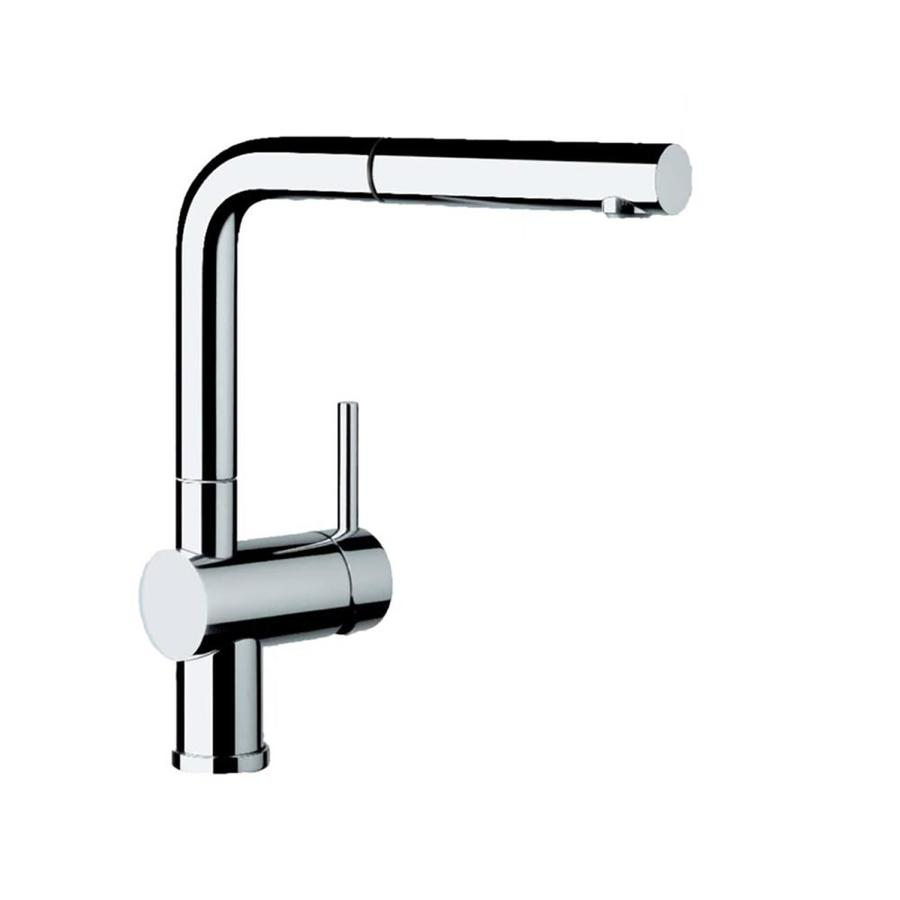Blanco Linus Chrome 1 Handle Deck Mount Pull Out Kitchen Faucet
