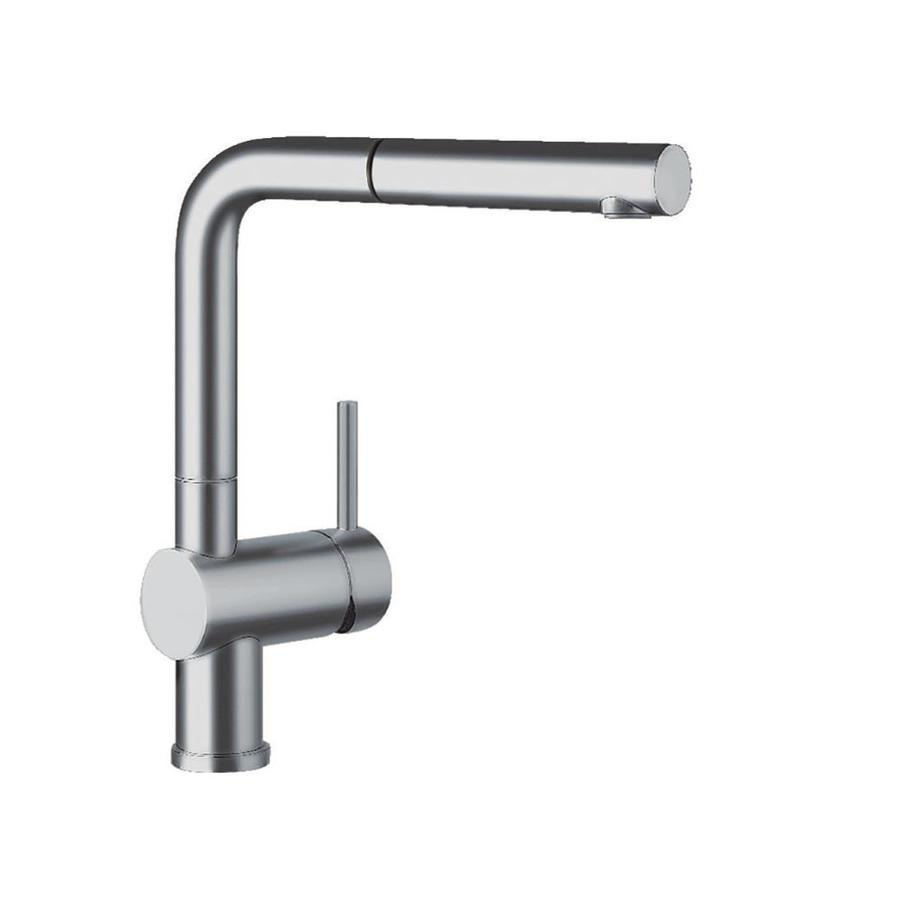 BLANCO Linus Satin Nickel 1-Handle Deck Mount Pull-Out Kitchen Faucet