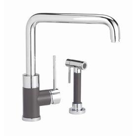 BLANCO Purus I Biscotti Mix 1 Handle Deck Mount High Arc Kitchen Faucet