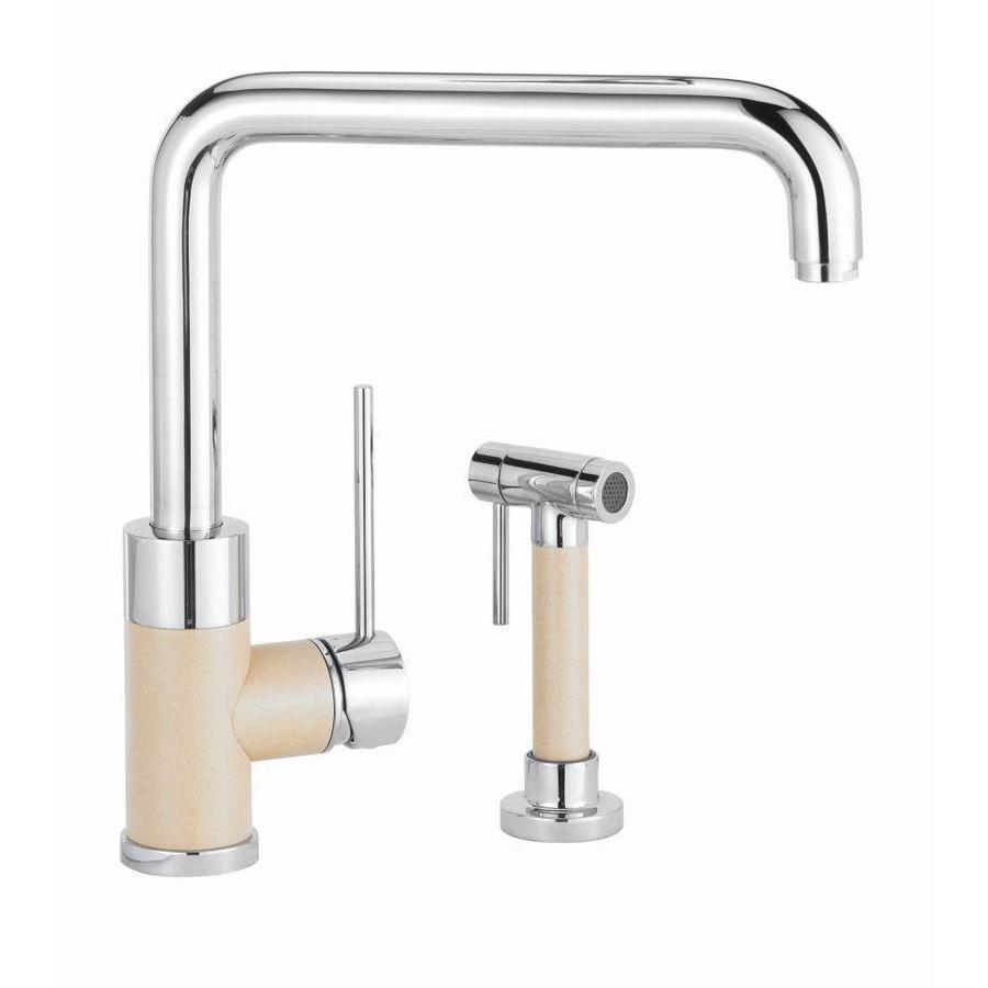 BLANCO Purus I Biscotti Mix 1-Handle Deck Mount High-Arc Kitchen Faucet