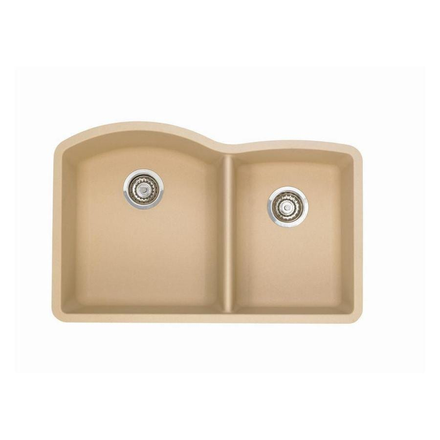 blanco diamond undermount kitchen sink shop blanco 32 in x 20 8438 in biscotti white 7916