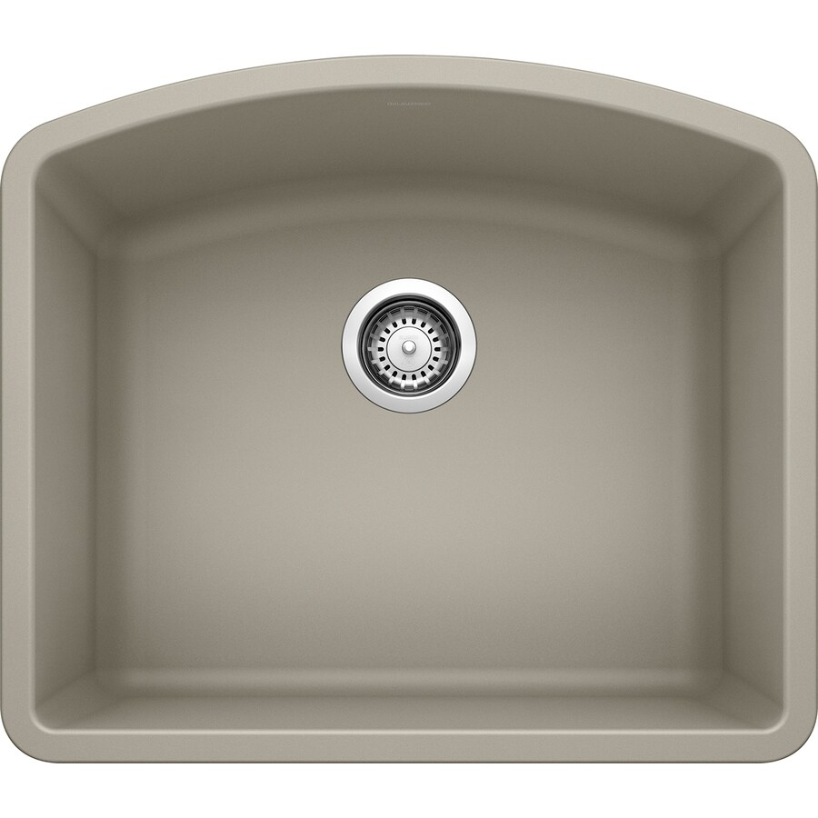 Shop BLANCO Diamond 20.813-in x 24-in Truffle Single-Basin Granite ...
