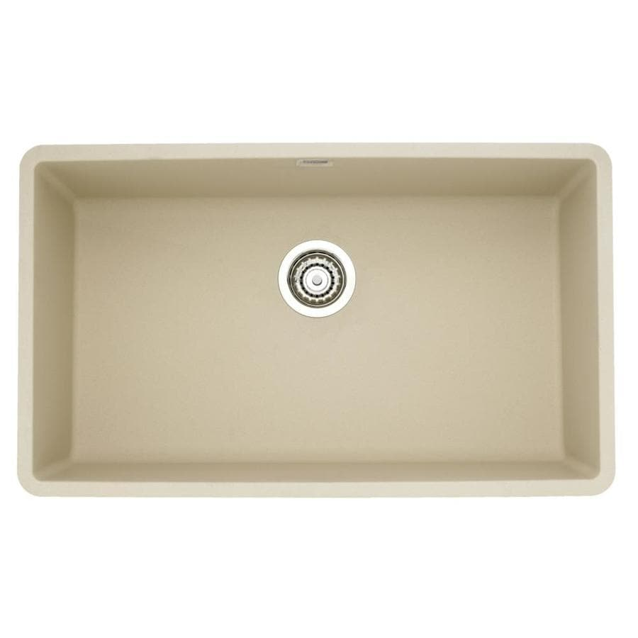 BLANCO Precis 18.75-in x 32-in Biscotti Single-Basin-Basin Granite Undermount (Customizable)-Hole Residential Kitchen Sink
