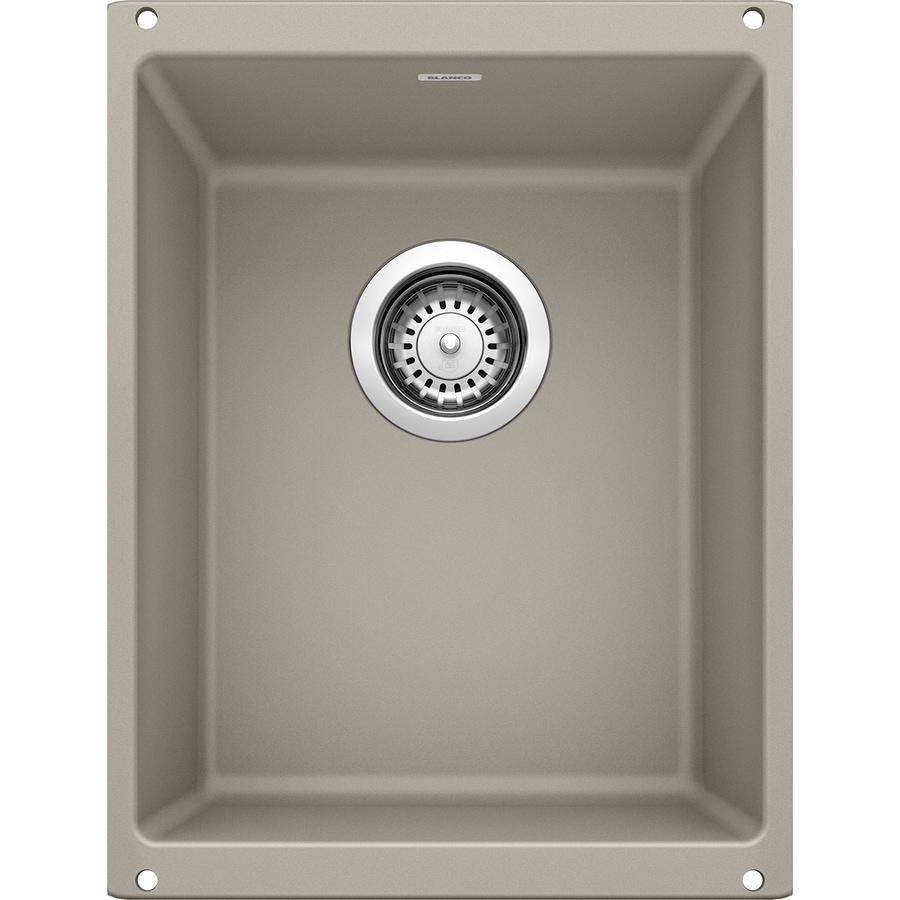 BLANCO Precis 18.11-in x 13.78-in Truffle Single-Basin-Basin Granite Undermount (Customizable)-Hole Residential Kitchen Sink