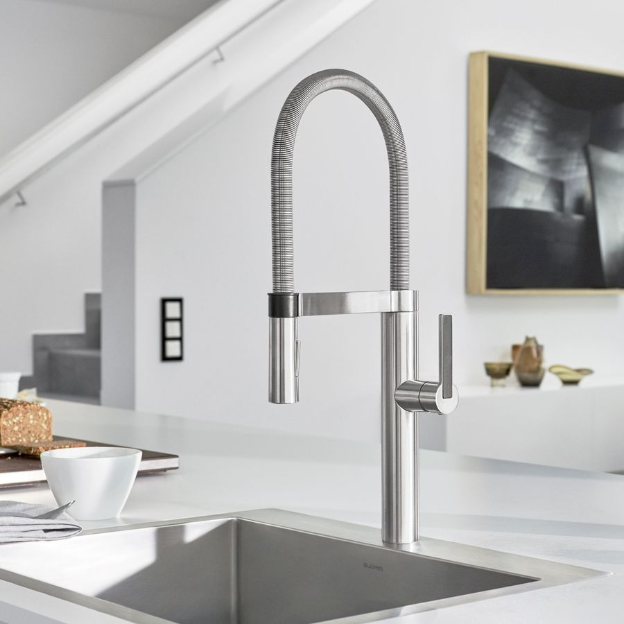 BLANCO Culina Chrome 1-Handle Deck Mount Pre-rinse Kitchen Faucet
