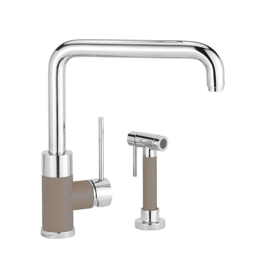 BLANCO Purus I Truffle 1-Handle Deck Mount High-Arc Kitchen Faucet