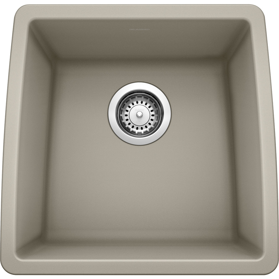 BLANCO Performa 17-in x 17.5-in Truffle Single-Basin Granite Undermount Residential Kitchen Sink