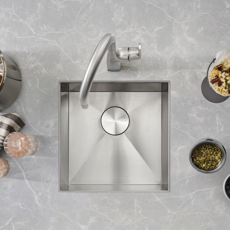 BLANCO Quatrus Satin Stainless Steel Undermount Residential Bar Sink