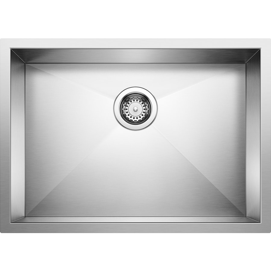 BLANCO Quatrus 20.5-in x 37.5-in Satin Single-Basin Stainless Steel Undermount Residential Kitchen Sink
