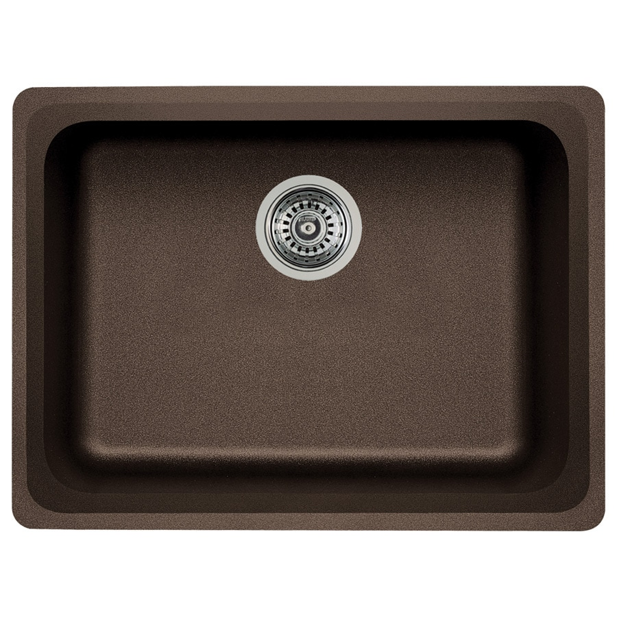 BLANCO Vision 18-in x 24-in Cafe Brown Single-Basin Granite Undermount Residential Kitchen Sink