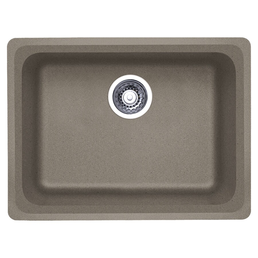 BLANCO Vision 18-in x 24-in Truffle (Brown) Single-Basin Granite Undermount Residential Kitchen Sink