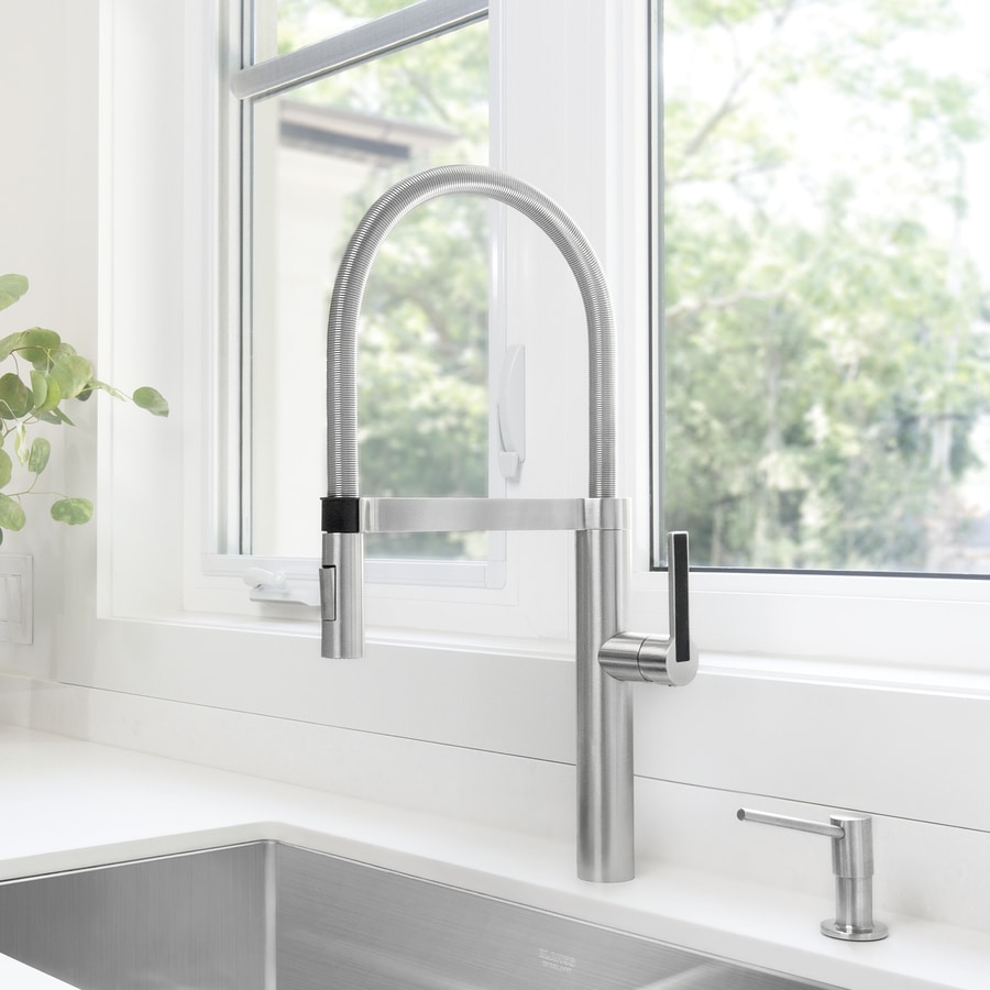 BLANCO Culina Satin Nickel 1-Handle High-Arc Kitchen Faucet