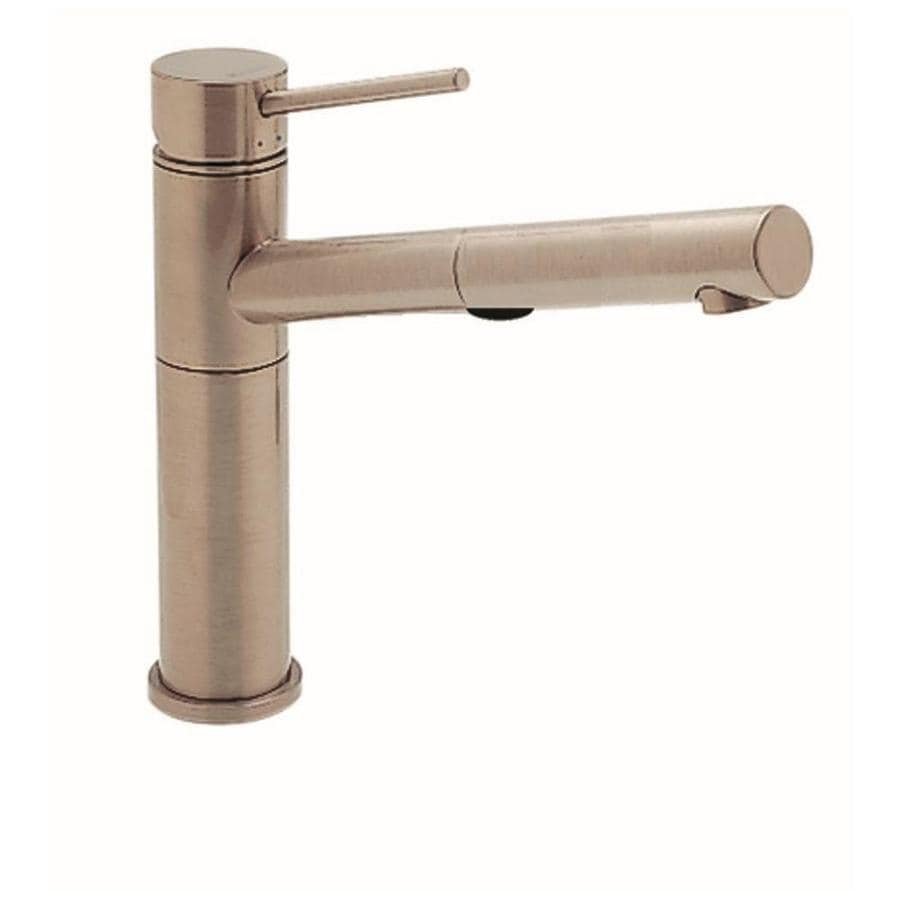 Shop BLANCO Alta Satin Nickel 1-Handle Pull-Out Kitchen Faucet at ...