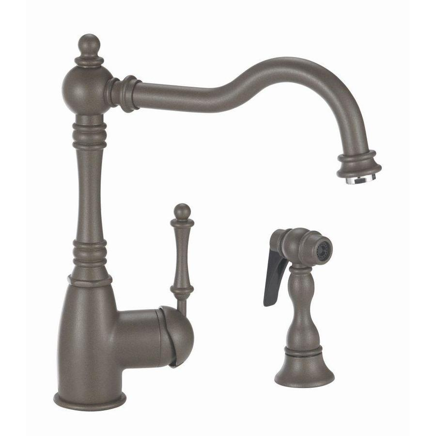 BLANCO Grace Cafe Brown 1-Handle High-Arc Kitchen Faucet with Side Spray