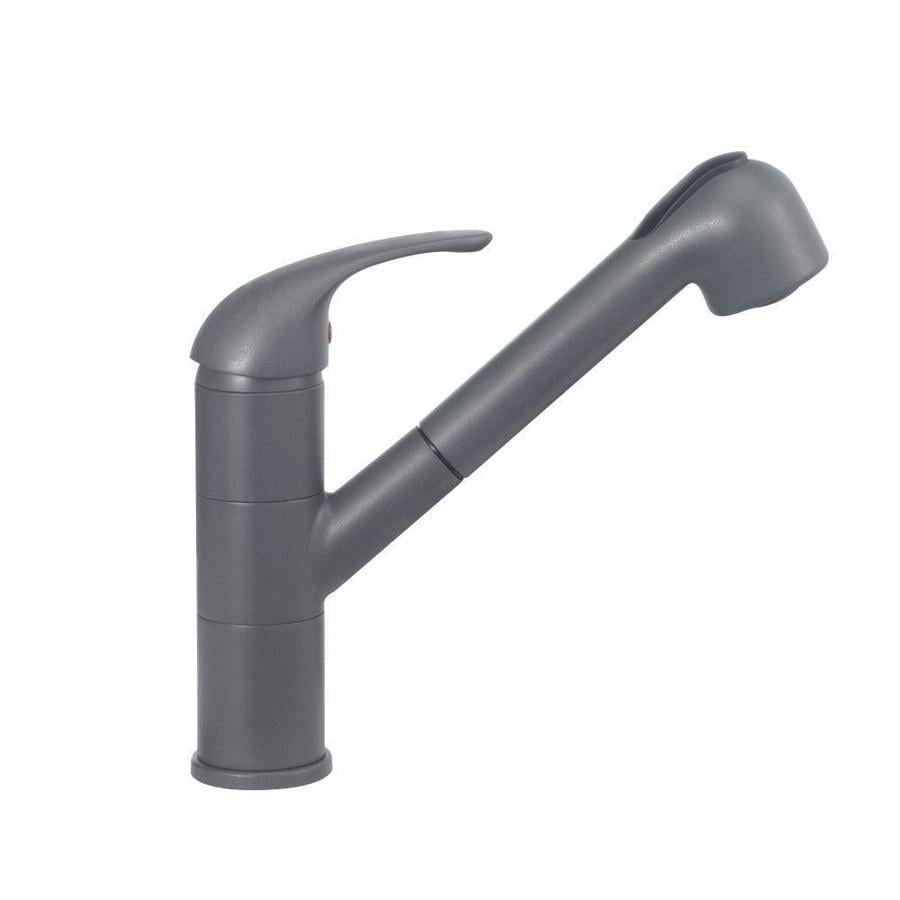 BLANCO Torino Cinder (Gray) 1-Handle Deck Mount Pull-out Kitchen Faucet