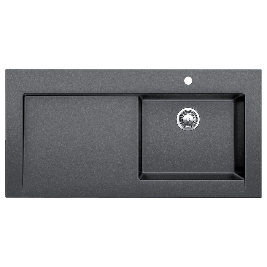 BLANCO Modex 47.25-in x 23.875-in Anthracite (Black) Single-Basin Granite Drop-In Residential Kitchen Sink with Drainboard