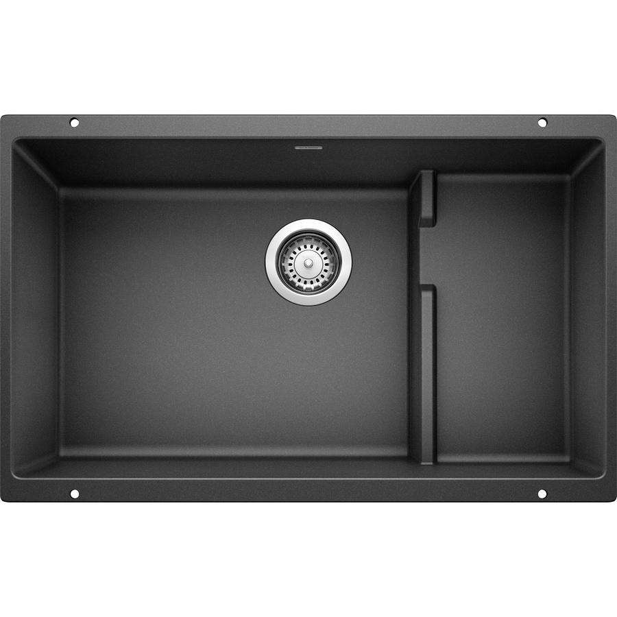 BLANCO Precis 28.7500-in x 18.1250-in Anthracite Single-Basin Granite Undermount Residential Kitchen Sink