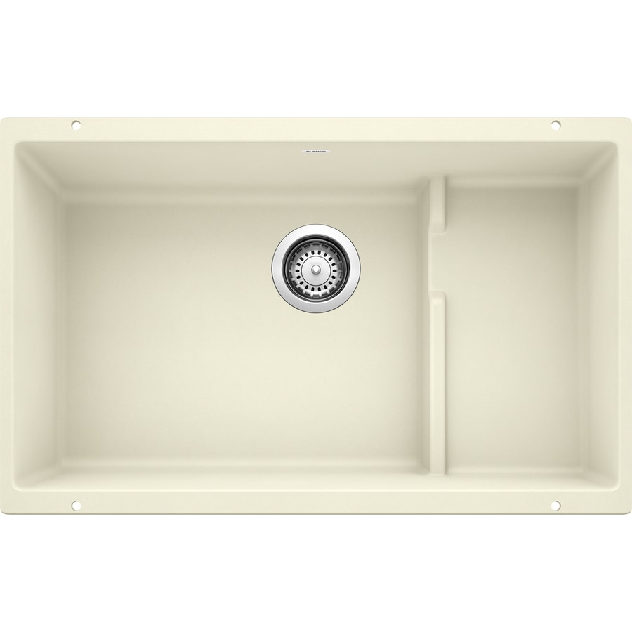 BLANCO Precis 28.75-in x 18.125-in Biscuit (Off-white) Single-Basin Granite Undermount Residential Kitchen Sink