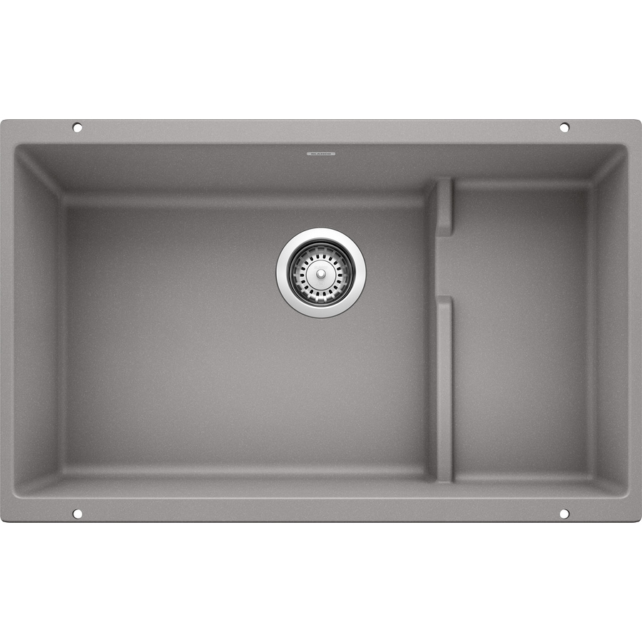 BLANCO Precis 18.125-in x 28.75-in Metallic Gray Single-Basin Granite Undermount Residential Kitchen Sink