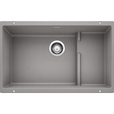 Precis 28 75 In X 18 Metallic Gray Single Basin Undermount Residential Kitchen Sink