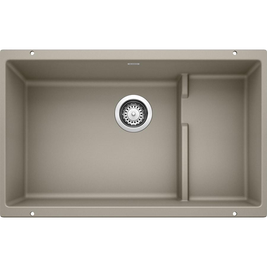 BLANCO Precis 18.125-in x 28.75-in Truffle Single-Basin Granite Undermount Residential Kitchen Sink