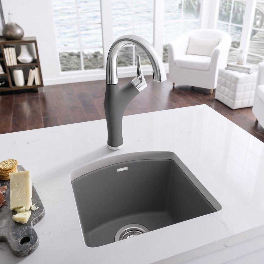 Cinder Blanco Sink : BLANCO Diamond Cinder 1-Hole Granite Drop-in or Undermount Residential ...