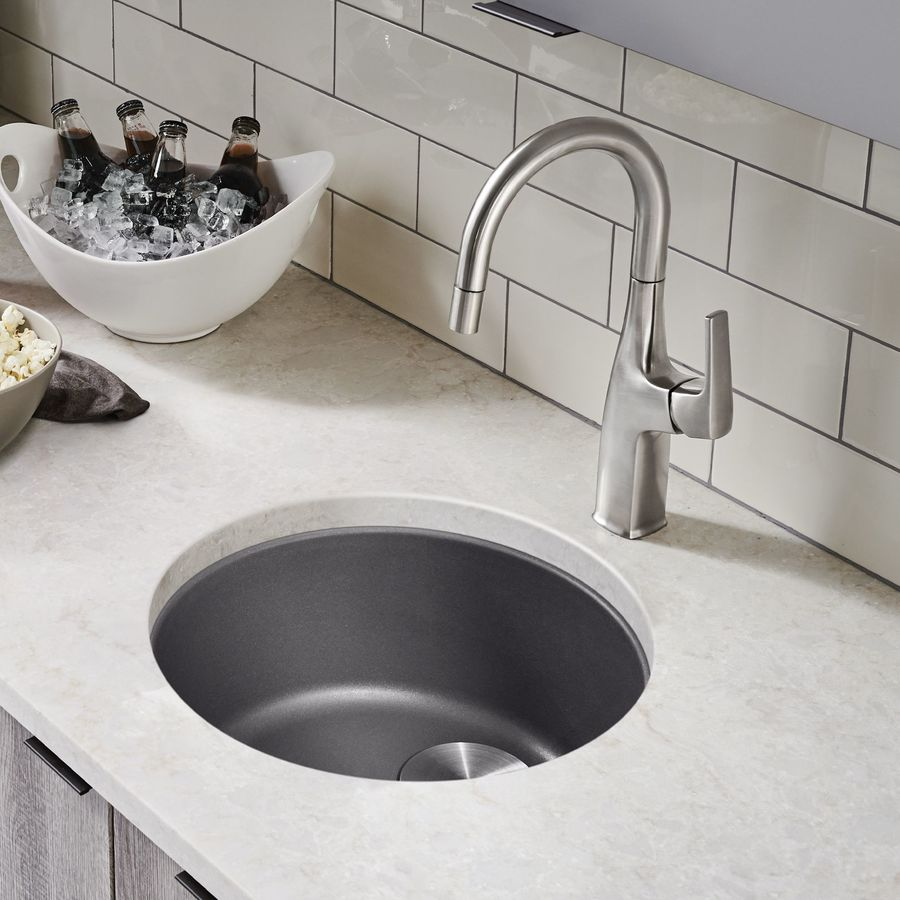 BLANCO Rondo Cinder Single-Basin Granite Drop-In Residential Bar Sink