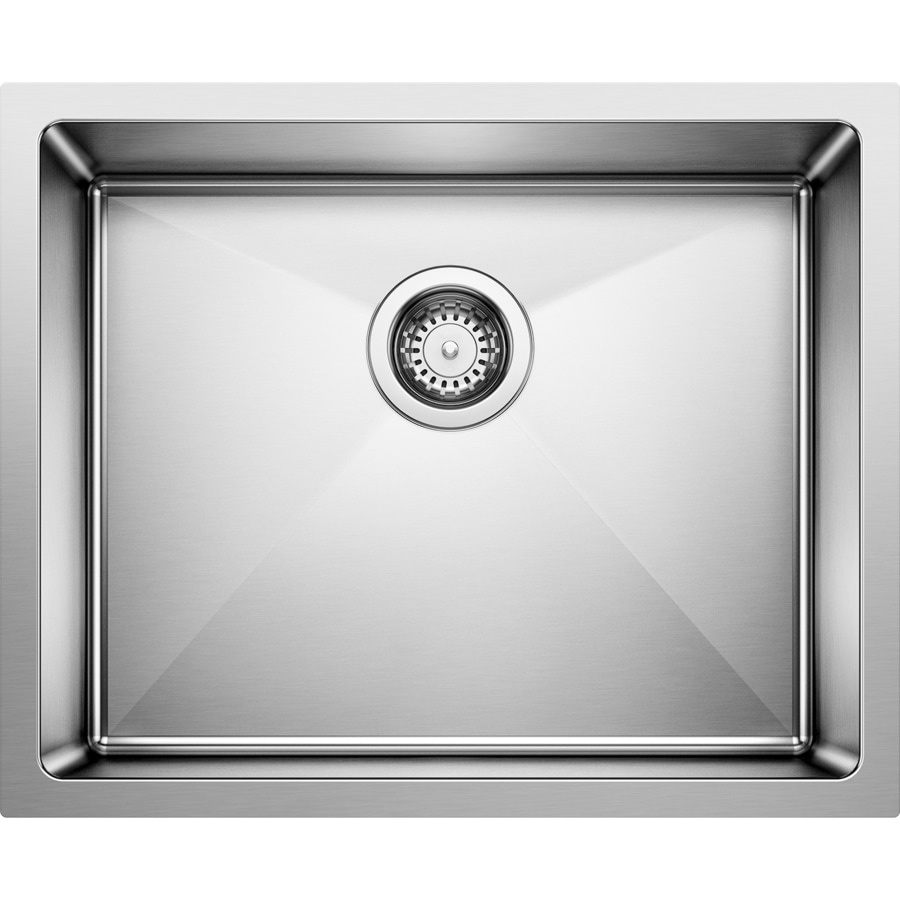 BLANCO Quatrus 22-in x 18-in Satin Single-Basin Stainless Steel Undermount Residential Kitchen Sink