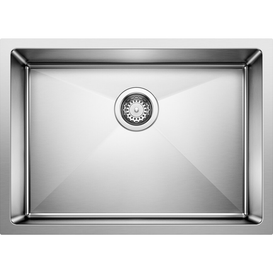 BLANCO Quatrus 25-in x 18-in Satin Single-Basin Undermount Residential Kitchen Sink