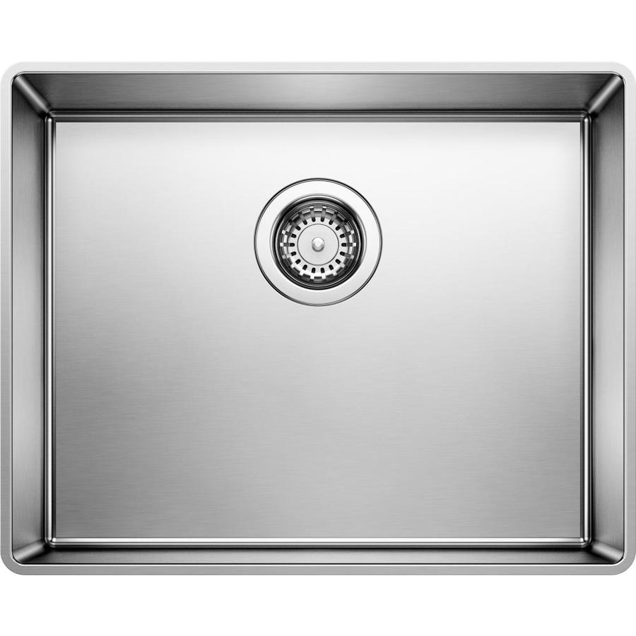BLANCO Attika 26.75-in x 17.75-in Satin Single-Basin Stainless Steel Drop-in Residential Kitchen Sink