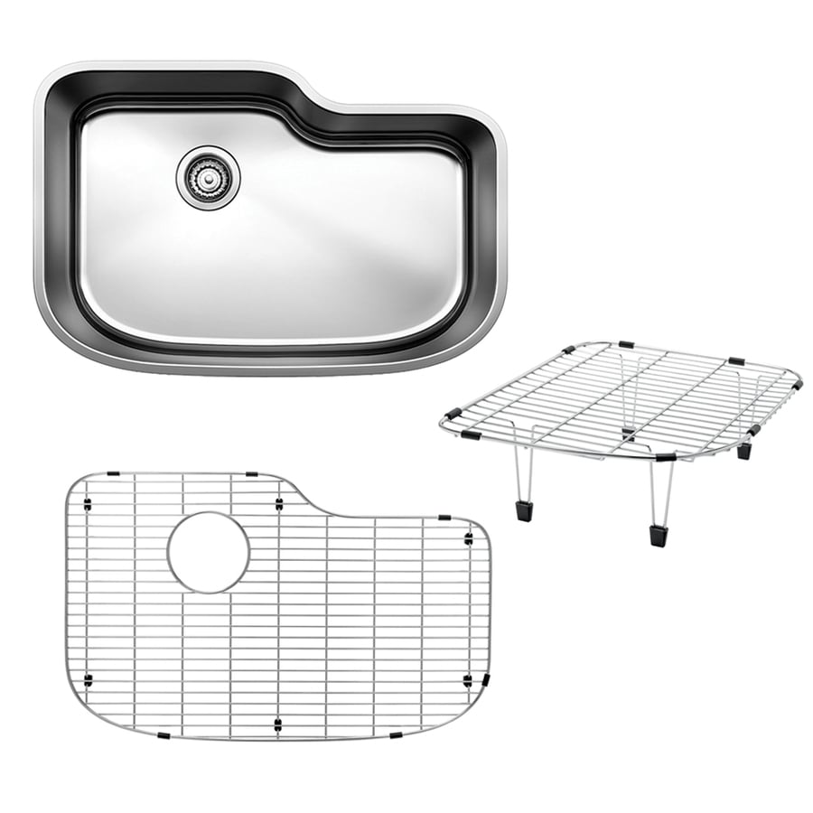 BLANCO One 30-in x 20-in Satin Polished Single-Basin Stainless Steel Undermount  Residential Kitchen Sink All-in-One Kit