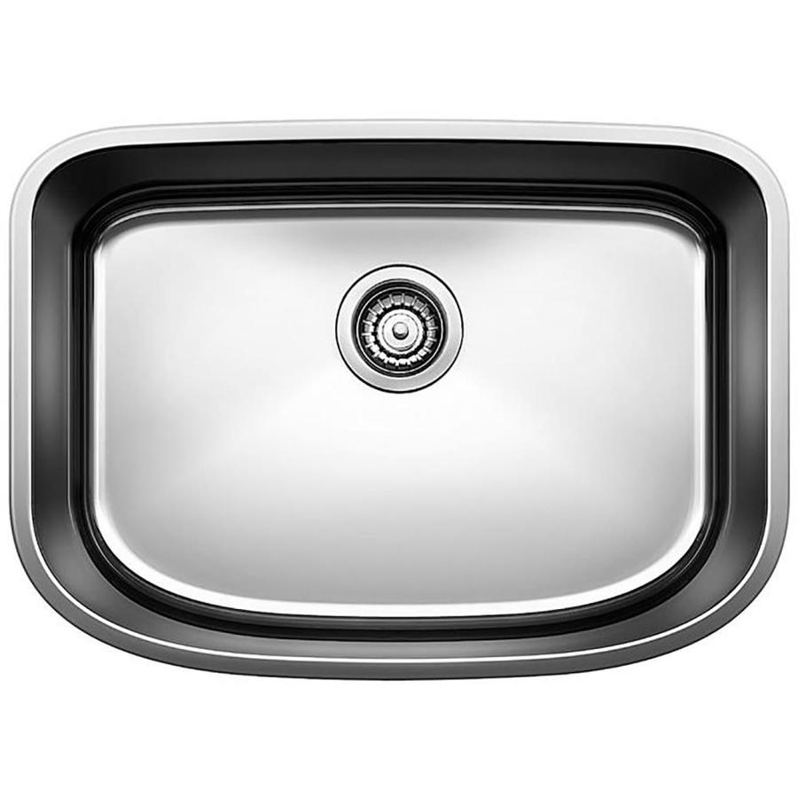 BLANCO One 25-in x 18-in Satin Polished Single-Basin Stainless Steel Undermount Residential Kitchen Sink