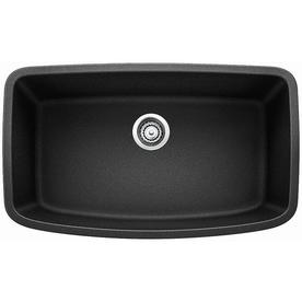 Blanco Valea 32 In X 19 Anthracite Black Single Basin