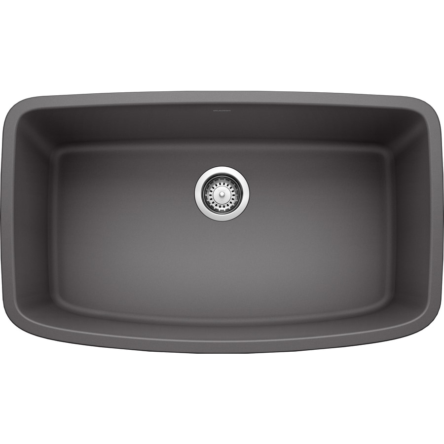 BLANCO Valea 19-in x 32-in Cinder Single-Basin Granite Undermount Residential Kitchen Sink