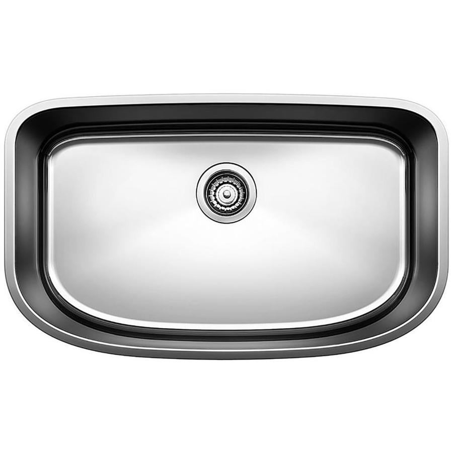 Shop BLANCO One 30-in x 18-in Satin Polished Single-Basin Stainless ...