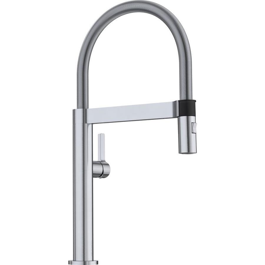 BLANCO Culina Satin Nickel 1-Handle Deck Mount Pre-rinse Kitchen Faucet
