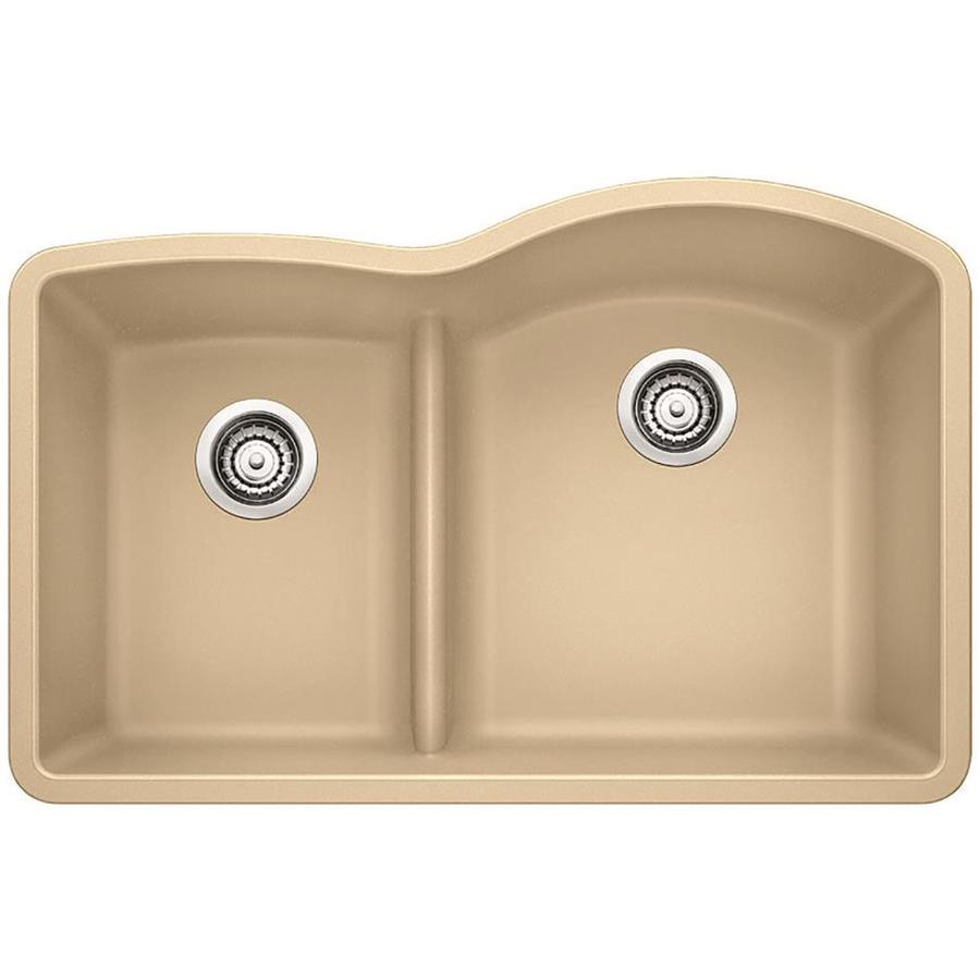 Diamond Kitchen Sink : ... -in Biscotti Double-Basin Granite Undermount Residential Kitchen Sink