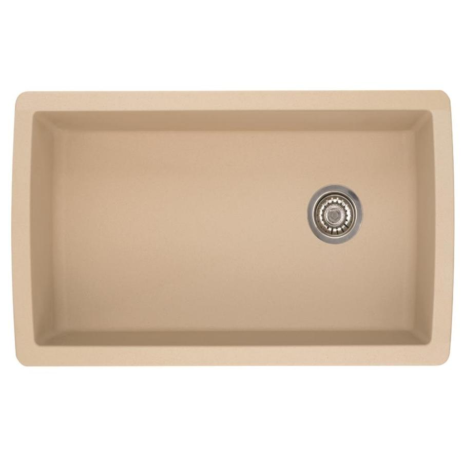 BLANCO Diamond 18.5-in x 33.5-in Biscotti Single-Basin Granite Undermount Residential Kitchen Sink