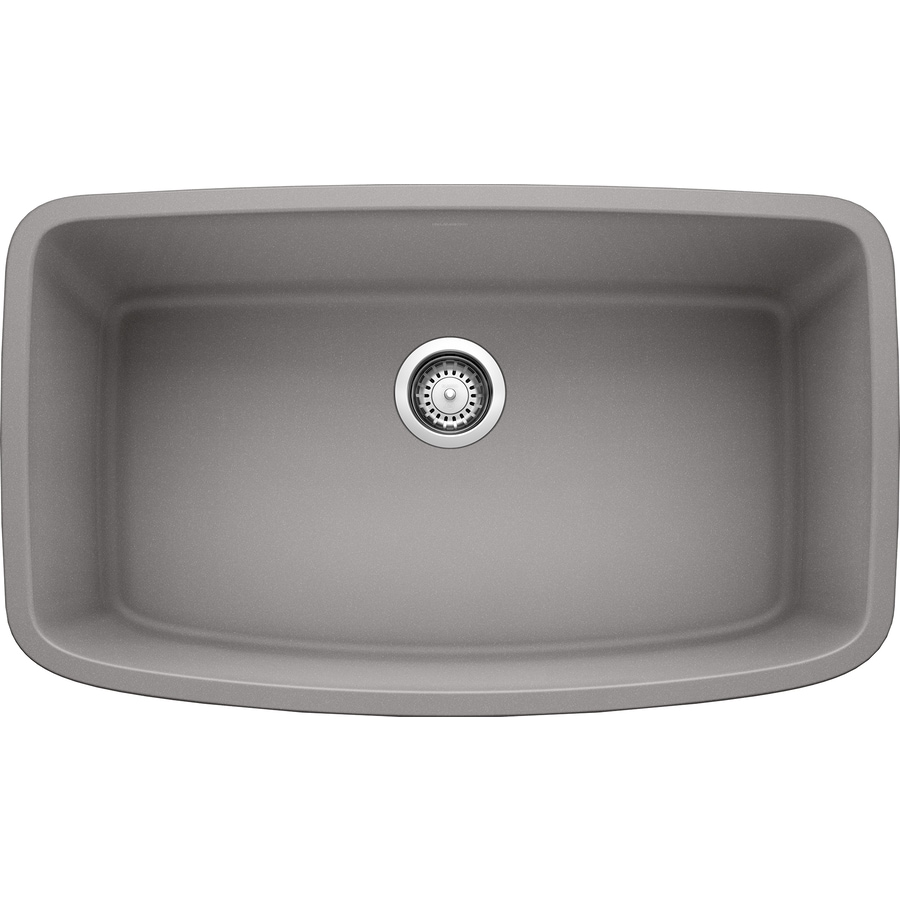 BLANCO Valea 19-in x 32-in Metallic Gray Single-Basin Granite Undermount Residential Kitchen Sink