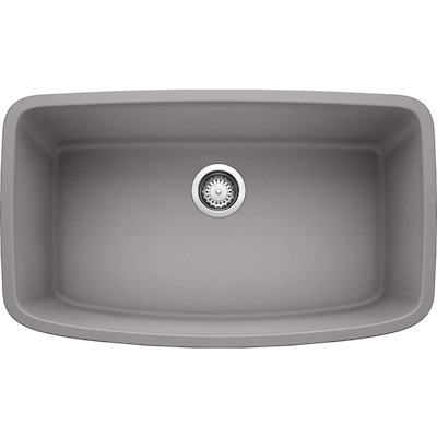 Valea 32-in x 19-in Metallic Gray Single Bowl Undermount Residential  Kitchen Sink