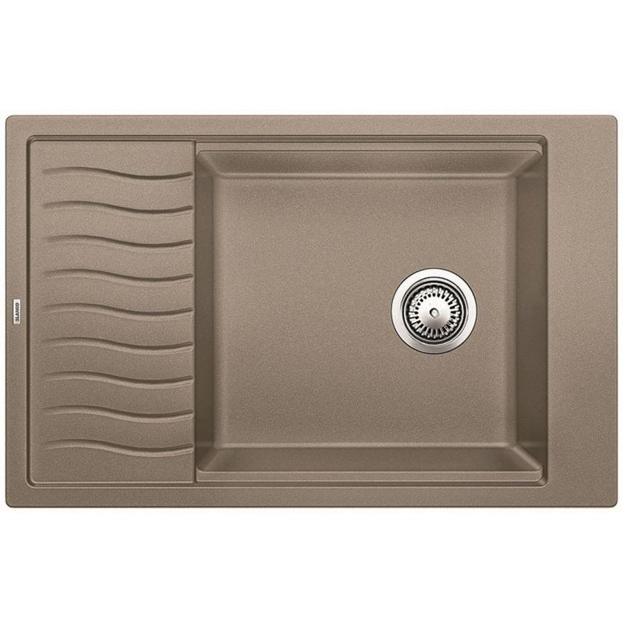BLANCO Precis 19.6875-in x 30.6875-in Truffle Single-Basin Granite Drop-in or Undermount Residential Kitchen Sink Drainboard Included