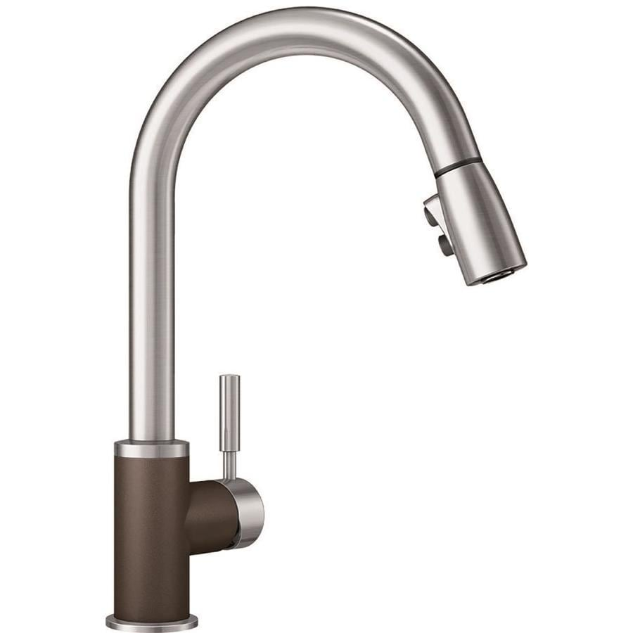 BLANCO Sonoma Cafe Brown/Stainless 1-Handle Deck Mount Pull-Down Kitchen Faucet