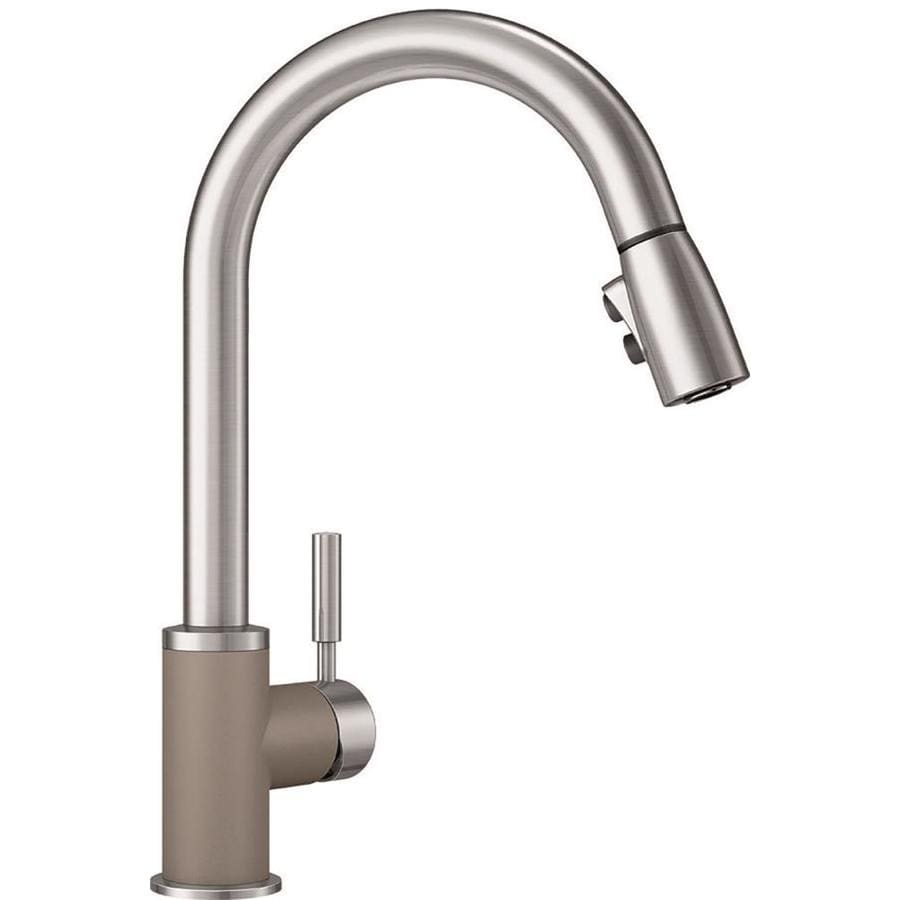BLANCO Sonoma Truffle/Stainless 1-Handle Deck Mount Pull-Down Kitchen Faucet
