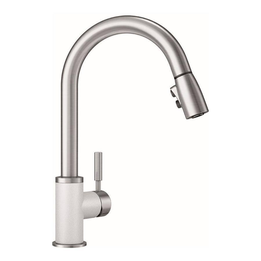 BLANCO Sonoma White/Stainless 1-handle Pull-down Deck Mount Kitchen Faucet