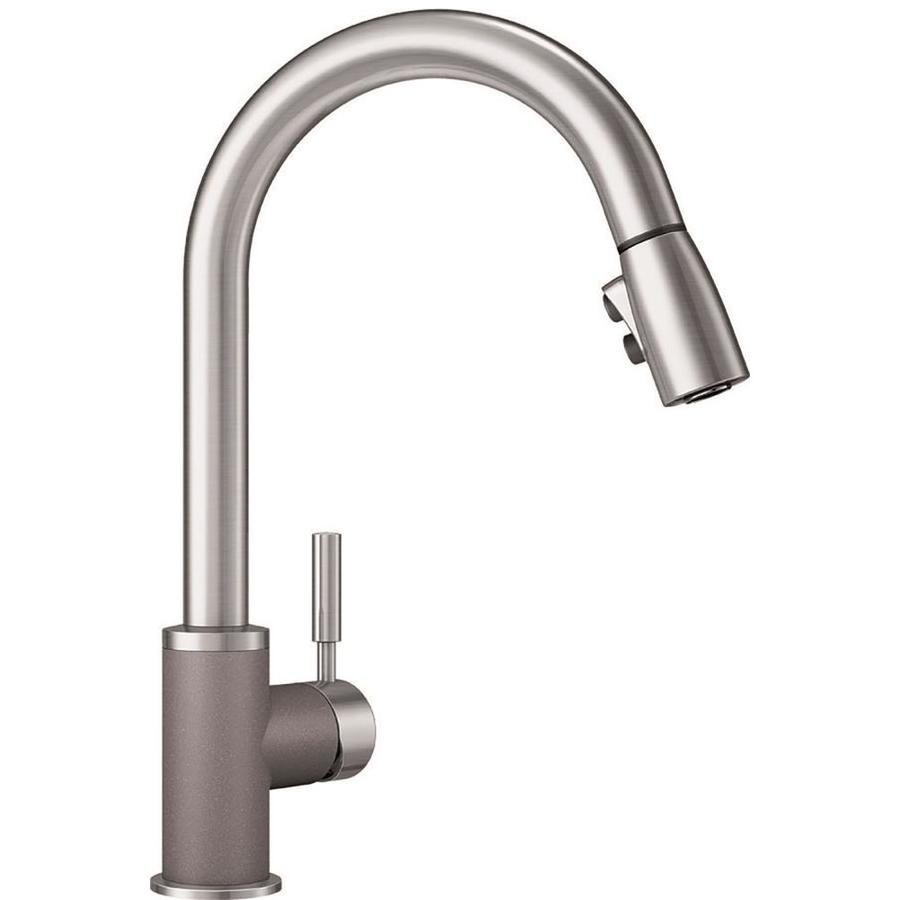 BLANCO Sonoma Metallic Gray/Stainless (Gray) 1-Handle Deck Mount Pull-Down Kitchen Faucet