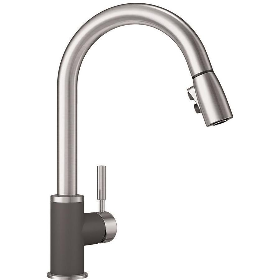 BLANCO Sonoma Cinder/Stainless 1 Handle Deck Mount Pull Down Kitchen Faucet