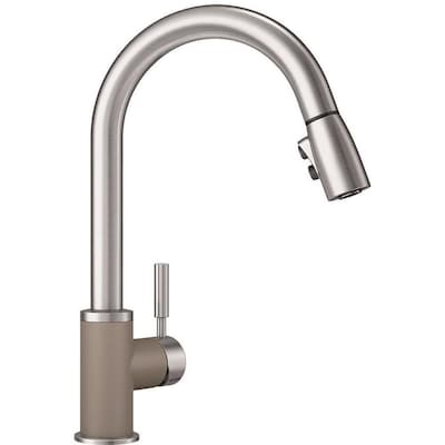 Sonoma Truffle/Stainless (Brown) 1-handle Deck Mount Pull-down Kitchen  Faucet