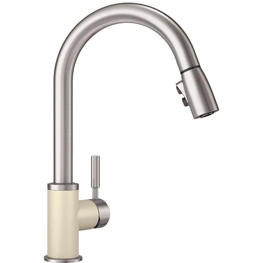 Blanco Sonoma Biscuit Stainless 1 Handle Deck Mount Pull Down Kitchen Faucet