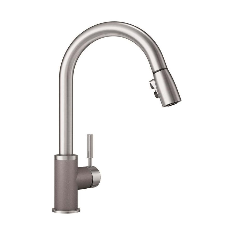 BLANCO Sonoma Metallic Gray/Stainless 1-Handle Pull-Down Kitchen Faucet