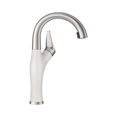 Blanco Artona White Stainless 1 Handle Deck Mount Pull